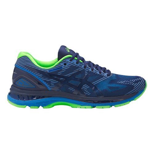 Mens ASICS GEL-Nimbus 19 Lite-Show Running Shoe - Blue/Green 12.5