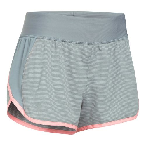 Womens Under Armour Tulip 2-in-1 Lined Shorts - True Grey XL