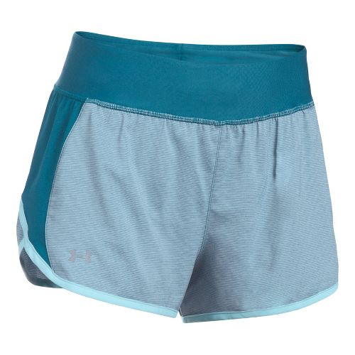 Womens Under Armour Tulip 2-in-1 Lined Shorts - Bayou Blue L