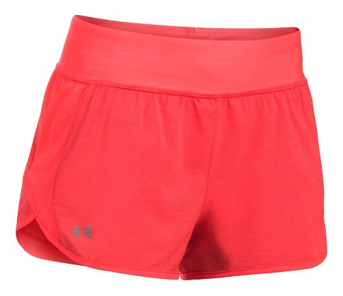 Womens Under Armour Tulip 2-in-1 Lined Shorts - Marathon Red M