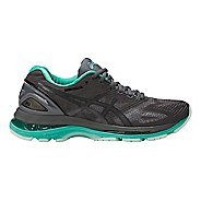 Womens ASICS GEL-Nimbus 19 Lite-Show Running Shoe - Dark Grey/Turquoise 6.5