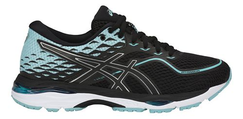 Womens ASICS GEL-Cumulus 19 Running Shoe - Black/Blue 8.5