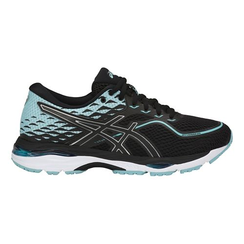 Womens ASICS GEL-Cumulus 19 Running Shoe - Black/Blue 8.5