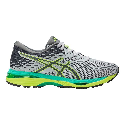 Womens ASICS GEL-Cumulus 19 Running Shoe - Grey/Yellow 12
