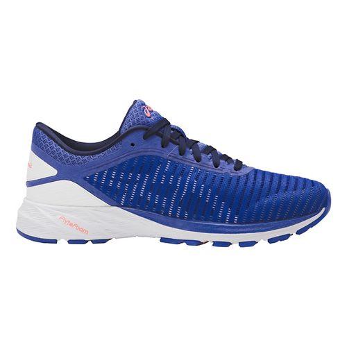 Womens ASICS DynaFlyte 2 Running Shoe - Blue/White 8.5