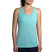 Womens Brooks Distance Printed Sleeveless & Tank Tops Technical Tops