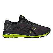 Mens ASICS GEL-Kayano 24 Running Shoe - Black/Green 8.5