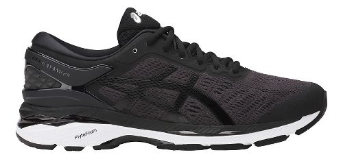 Mens ASICS GEL-Kayano 24 Running Shoe - Black/White 12