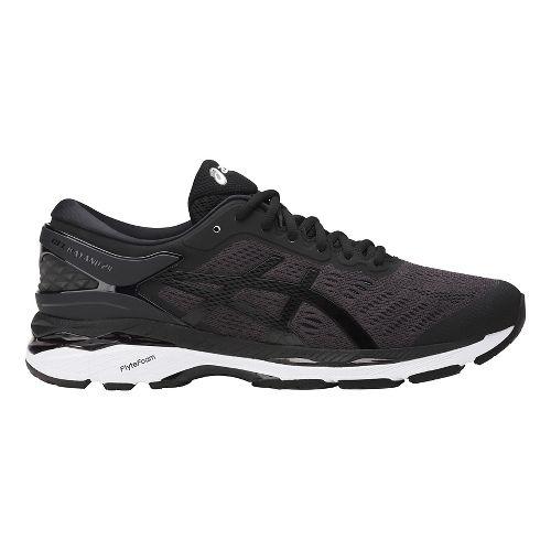 Mens ASICS GEL-Kayano 24 Running Shoe - Black/White 8.5
