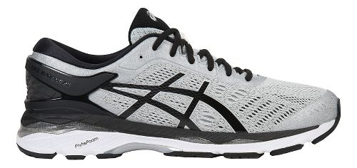 Mens ASICS GEL-Kayano 24 Running Shoe - Silver/Black 12.5