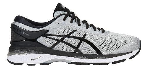 Mens ASICS GEL-Kayano 24 Running Shoe - Silver/Black 16
