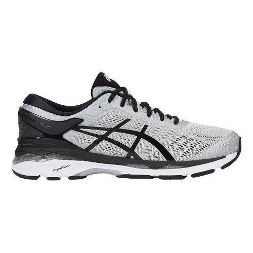 Mens ASICS GEL-Kayano 24 Running Shoe - Silver/Black 10.5
