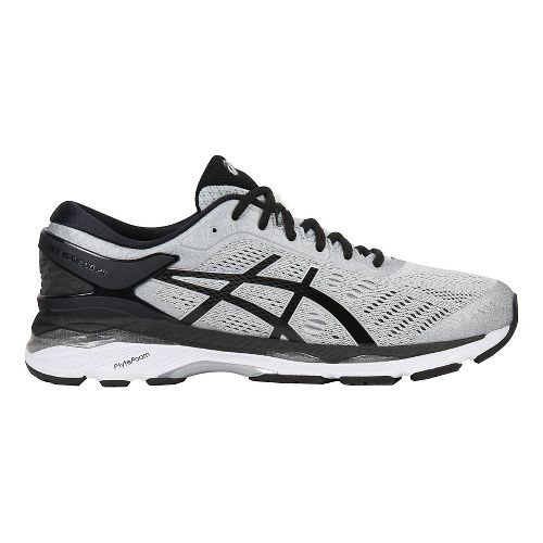 Mens ASICS GEL-Kayano 24 Running Shoe - Silver/Black 14