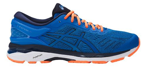 Mens ASICS GEL-Kayano 24 Running Shoe - Blue/Orange 11.5