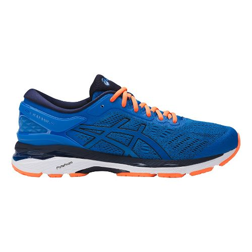 Mens ASICS GEL-Kayano 24 Running Shoe - Blue/Orange 15