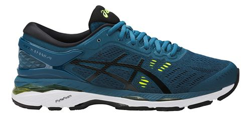 Mens ASICS GEL-Kayano 24 Running Shoe - Ink/Yellow 8