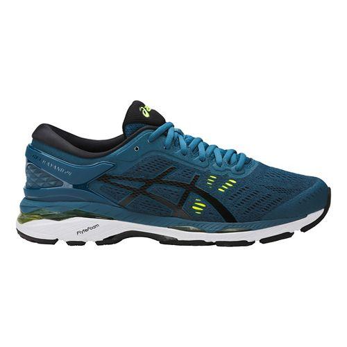 Mens ASICS GEL-Kayano 24 Running Shoe - Ink/Yellow 14
