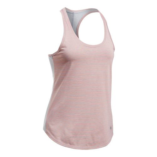 Womens Under Armour Threadborne Run Mesh Sleeveless & Tank Technical Tops - Heather/Orange L