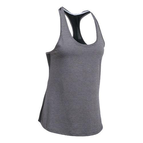 Womens Under Armour Threadborne Run Mesh Sleeveless & Tank Technical Tops - Carbon Heather L
