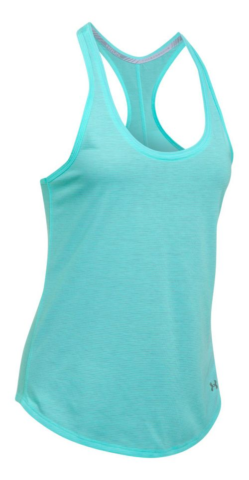 Womens Under Armour Threadborne Run Mesh Sleeveless & Tank Technical Tops - Blue Infinity M