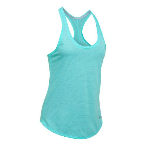 Womens Under Armour Threadborne Run Mesh Sleeveless & Tank Technical Tops - Blue Infinity L
