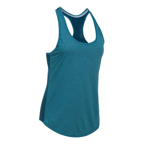 Womens Under Armour Threadborne Run Mesh Sleeveless & Tank Technical Tops - Bayou Blue XL ...
