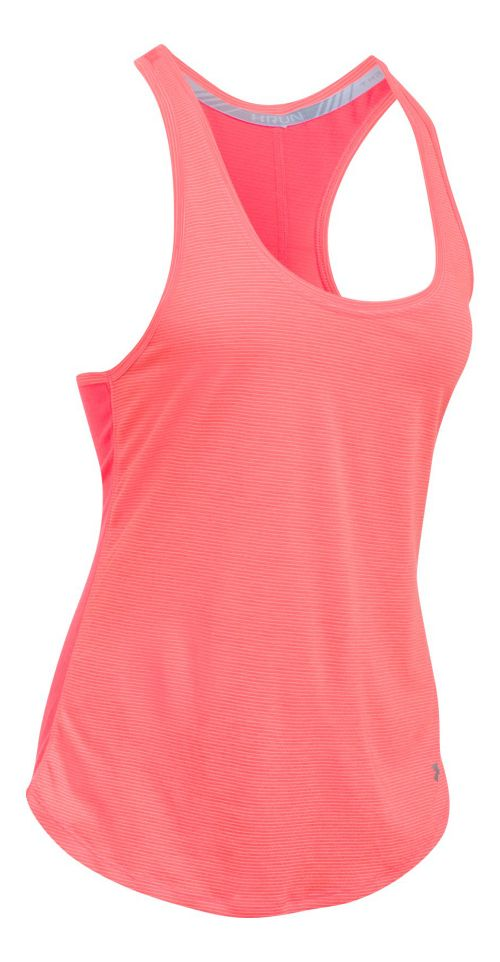 Womens Under Armour Threadborne Run Mesh Sleeveless & Tank Technical Tops - Marathon Red XL