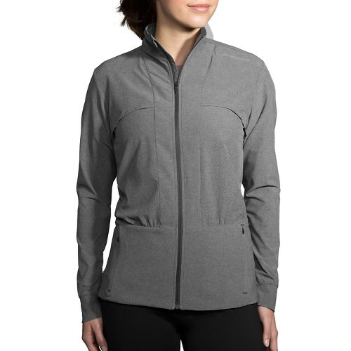 Womens Brooks Fremont Cold Weather Jackets - Heather Asphalt L