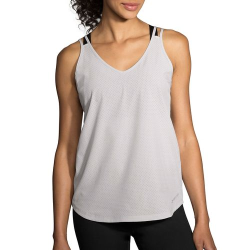 Womens Brooks Fremont Sleeveless & Tank Tops Technical Tops - Heather Sterling M