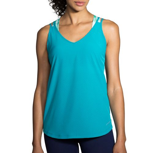 Womens Brooks Fremont Sleeveless & Tank Tops Technical Tops - Tile S