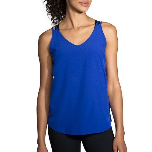 Womens Brooks Fremont Sleeveless & Tank Tops Technical Tops - Cobalt L