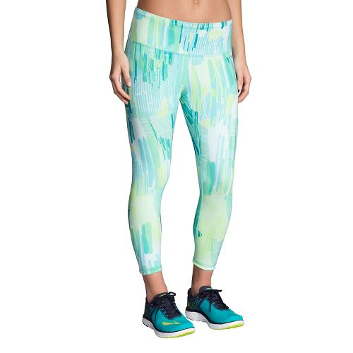 Womens Brooks Ghost Crop Tights & Leggings Pants - Mirage Kasbah XL