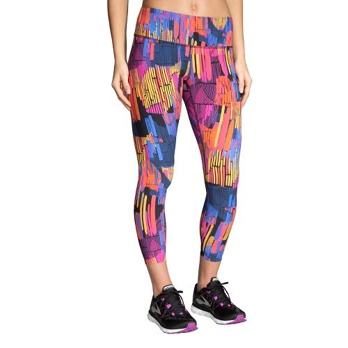 Womens Brooks Ghost Crop Tights & Leggings Pants - Sunset Kasbah XS