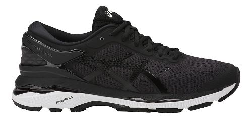 Womens ASICS GEL-Kayano 24 Running Shoe - Black/White 10