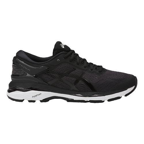 Womens ASICS GEL-Kayano 24 Running Shoe - Black/White 8.5