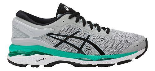 Womens ASICS GEL-Kayano 24 Running Shoe - Silver/Green 9.5