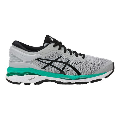 Womens ASICS GEL-Kayano 24 Running Shoe - Silver/Green 7