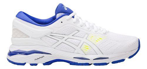 Womens ASICS GEL-Kayano 24 Running Shoe - White/Blue 10.5