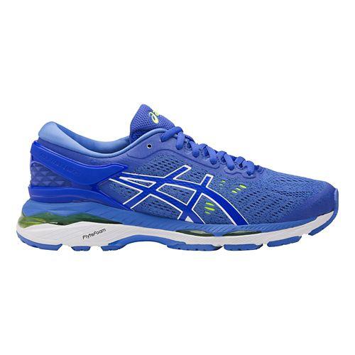 Womens ASICS GEL-Kayano 24 Running Shoe - Blue/White 10.5