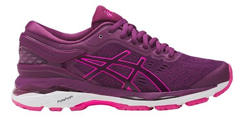 Womens ASICS GEL-Kayano 24 Running Shoe - Prune/Pink 10