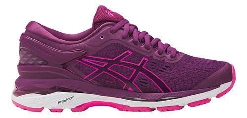 Womens ASICS GEL-Kayano 24 Running Shoe - Prune/Pink 6