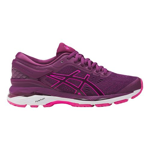 Womens ASICS GEL-Kayano 24 Running Shoe - Prune/Pink 8.5
