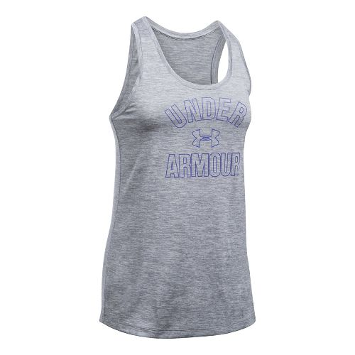 Womens Under Armour PS Wordmark Twist Sleeveless & Tank Tops Technical Tops - Pink Shock ...
