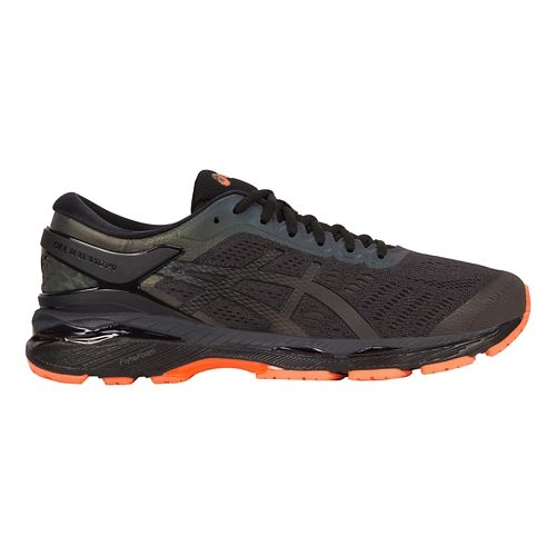 Mens ASICS GEL-Kayano 24 Lite-Show Running Shoe - Black/Orange 9