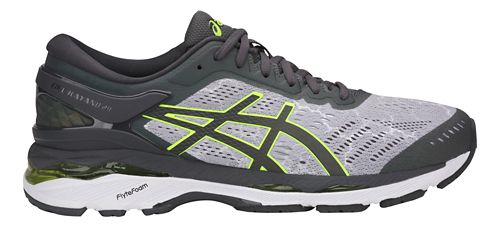 Mens ASICS GEL-Kayano 24 Lite-Show Running Shoe - Grey/Yellow 12.5