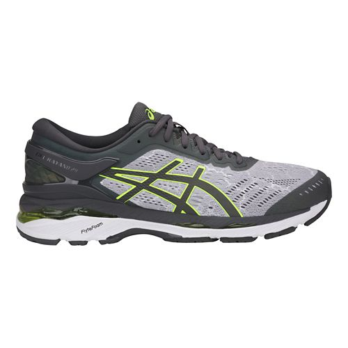 Mens ASICS GEL-Kayano 24 Lite-Show Running Shoe - Grey/Yellow 8
