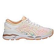 Womens ASICS GEL-Kayano 24 Lite-Show Running Shoe - White/Apricot 8