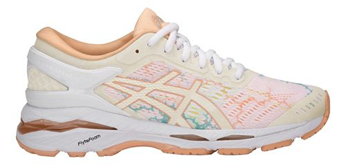 Womens ASICS GEL-Kayano 24 Lite-Show Running Shoe - White/Apricot 6.5
