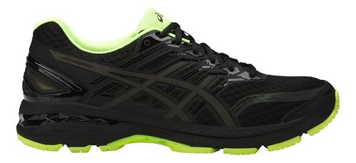 Mens ASICS GT-2000 5 Lite-Show Running Shoe - Black/Yellow 10