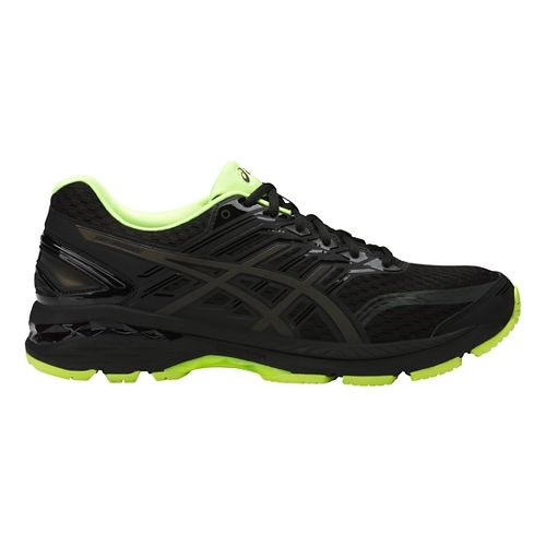 Mens ASICS GT-2000 5 Lite-Show Running Shoe - Black/Yellow 11